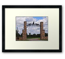 Gateway to Groundhog land Framed Print