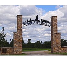 Gateway to Groundhog land Photographic Print