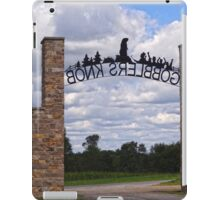 Gateway to Groundhog land iPad Case/Skin
