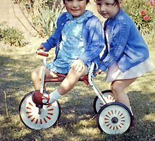1967 Daughters and Trike by Woodie