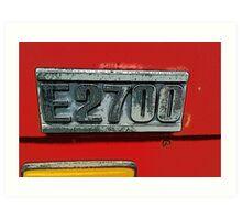 Mazda E2700 - The Emblem! Art Print