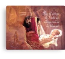 Mary Did You Know? Canvas Print