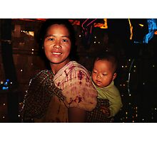 Burmese Mother and Child Photographic Print