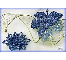 Sparkle in Blue Photographic Print