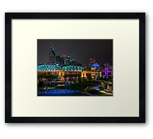Music City Nights Framed Print