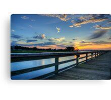 marina sunrise_1 Canvas Print