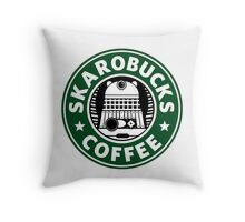 Skaro Coffee Green Throw Pillow