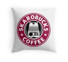 Skaro Coffee red Throw Pillow