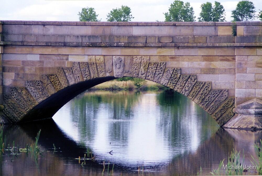 Arch of Historic Ross Bridge, Tasmania by Michael John