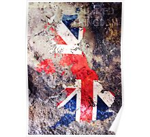 UK Flag Map Poster