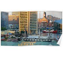Birdseye View of Baltimore Inner Harbor  *featured Poster