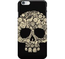 Skull and Roses (abel in all colors) iPhone Case/Skin