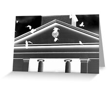 Crows at Colts Neck Reformed Church Greeting Card