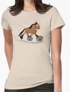 Standardbred (light bay) Womens Fitted T-Shirt