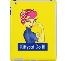 Kittycat do it iPad Case/Skin