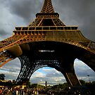 stormy Eiffle Tower by adouglas