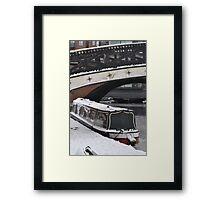Cold Barge Framed Print