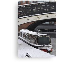 Cold Barge Canvas Print