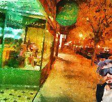 Night shopping scene in Traverse City by danieltrue