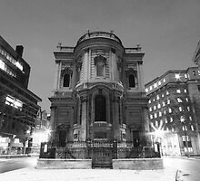 St Mary Le Strand mono by Timothy Adams