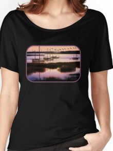 Boats at Anchor ~ Evening Tranquility Women's Relaxed Fit T-Shirt