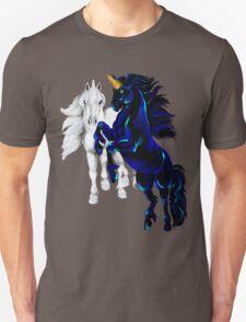 Two Unicorn Stallions  Unisex T-Shirt