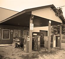 Route 66 - Henry's Rabbit Ranch by Frank Romeo
