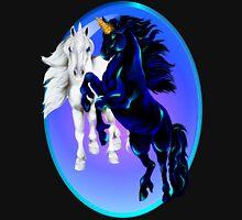 Two Unicorn Stallions Oval Long Sleeve T-Shirt