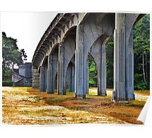 Under Yaquina Bridge....Newport, Oregon Poster