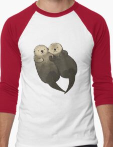 Significant Otters - Otters Holding Hands Men's Baseball ¾ T-Shirt