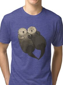 Significant Otters - Otters Holding Hands Tri-blend T-Shirt