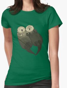 Significant Otters - Otters Holding Hands Womens T-Shirt