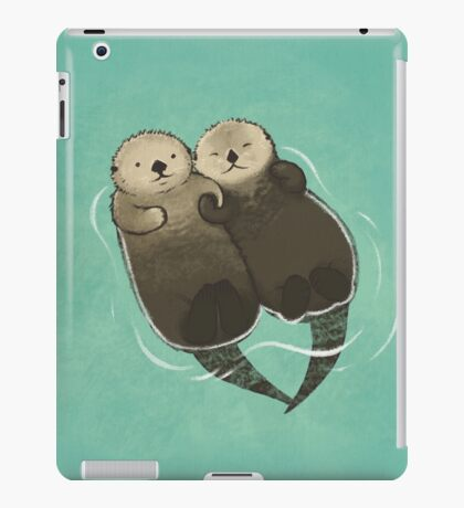 Significant Otters - Otters Holding Hands iPad Case/Skin