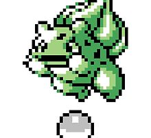 Bulbasaur With Pokeball Retro 8-Bit by BrianShepherd