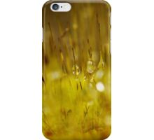 Abstract Yellow Dew iPhone Case/Skin