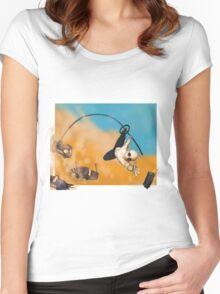 War Boy Polecat Women's Fitted Scoop T-Shirt