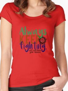 AKF - Text Women's Fitted Scoop T-Shirt