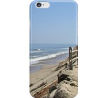 Ocean bluff and beach iPhone Case/Skin