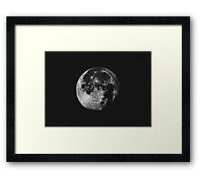 The moon Framed Print