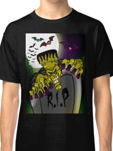 Graveyard Frankenstein Classic T-Shirt