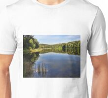 Blue skies on the blue water Unisex T-Shirt
