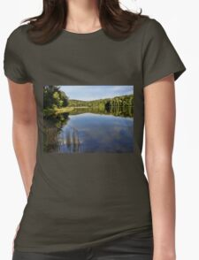 Blue skies on the blue water Womens Fitted T-Shirt