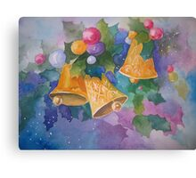 Christmas Bells after a Christmas Card Canvas Print