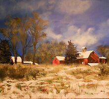 Snowy Barn, Catskill, NY by Jsimone