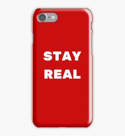STAY REAL (RED) iPhone Case/Skin