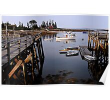 Quiet Harbor - Cape Newagen,  Maine Poster