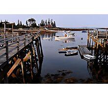 Quiet Harbor - Cape Newagen,  Maine Photographic Print
