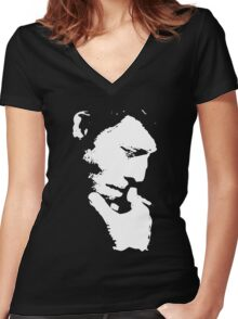 Tom Waits T-Shirt Women's Fitted V-Neck T-Shirt