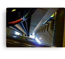 Looking Up Hyatt Embarcadero Elevator, San Francisc, CA Canvas Print