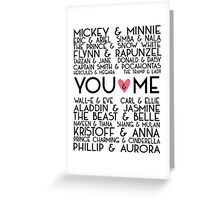 Disney Couples + You & Me Greeting Card